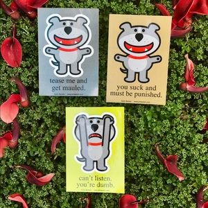 Accessories - DOG OF GLEE 3 Stickers Set Lot